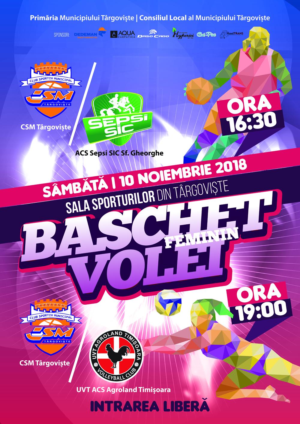 Sâmbătă, 10 noiembrie 2018, începând cu ora 16.30, Sala Sporturilor din Târgoviște va fi gazda unui nou cuplaj de gală