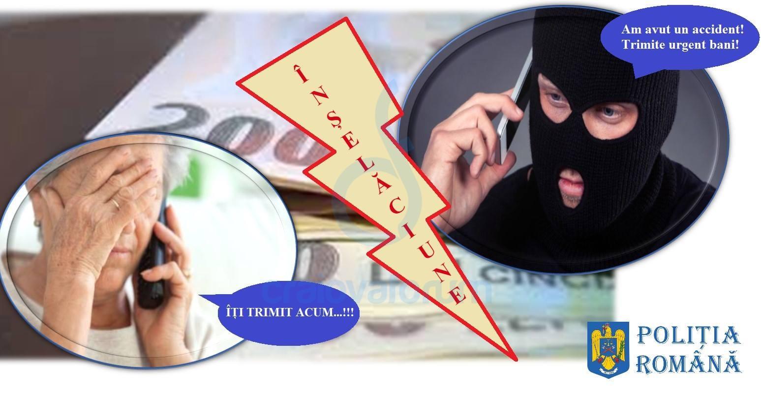 """Atenţie la metodele de înşelăciune prin telefon, cunoscute sub denumirea de """"Accidentul""""!"""