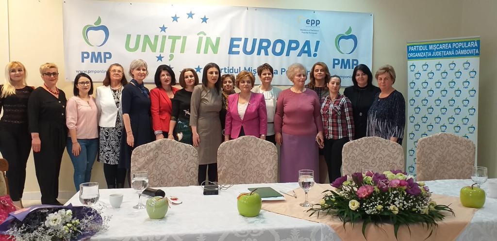 Noul preşedinte al Organizaţiei de Femei PMP Dâmboviţa,  Georgeta Zaharia