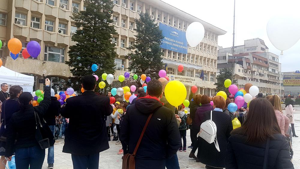 Ziua Mondială a Sindromului Down  a fost sărbătorită în Piața Tricolorului din Târgoviște