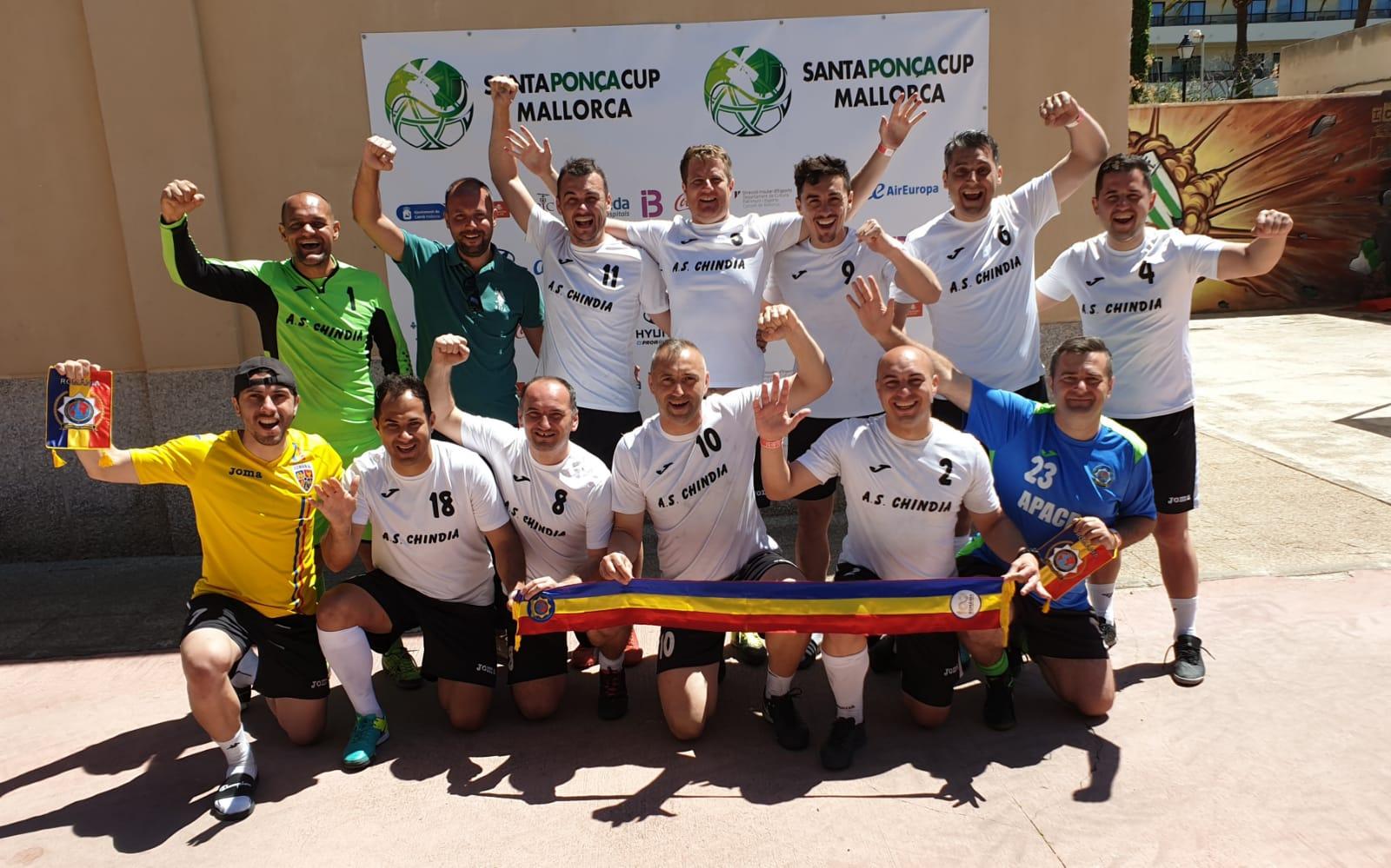Echipa de fotbal a Asociației Internaționale a Polițiștilor 1 Dâmbovița a câștigat locul II la Campionatul Mondial IPA 2019, organizat în Palma de Mallorca din Spania