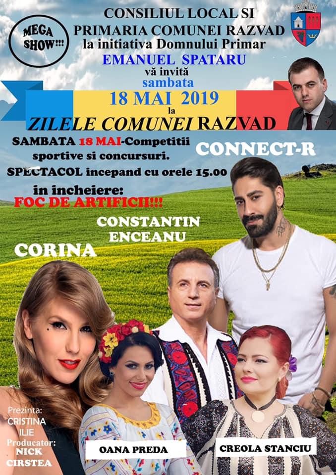 Zilele comunei Răzvad, sâmbătă,18 mai 2019