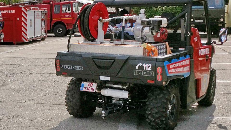 Pompierii dâmboviţeni au în dotare   o autospecială de teren A 250 – UTV