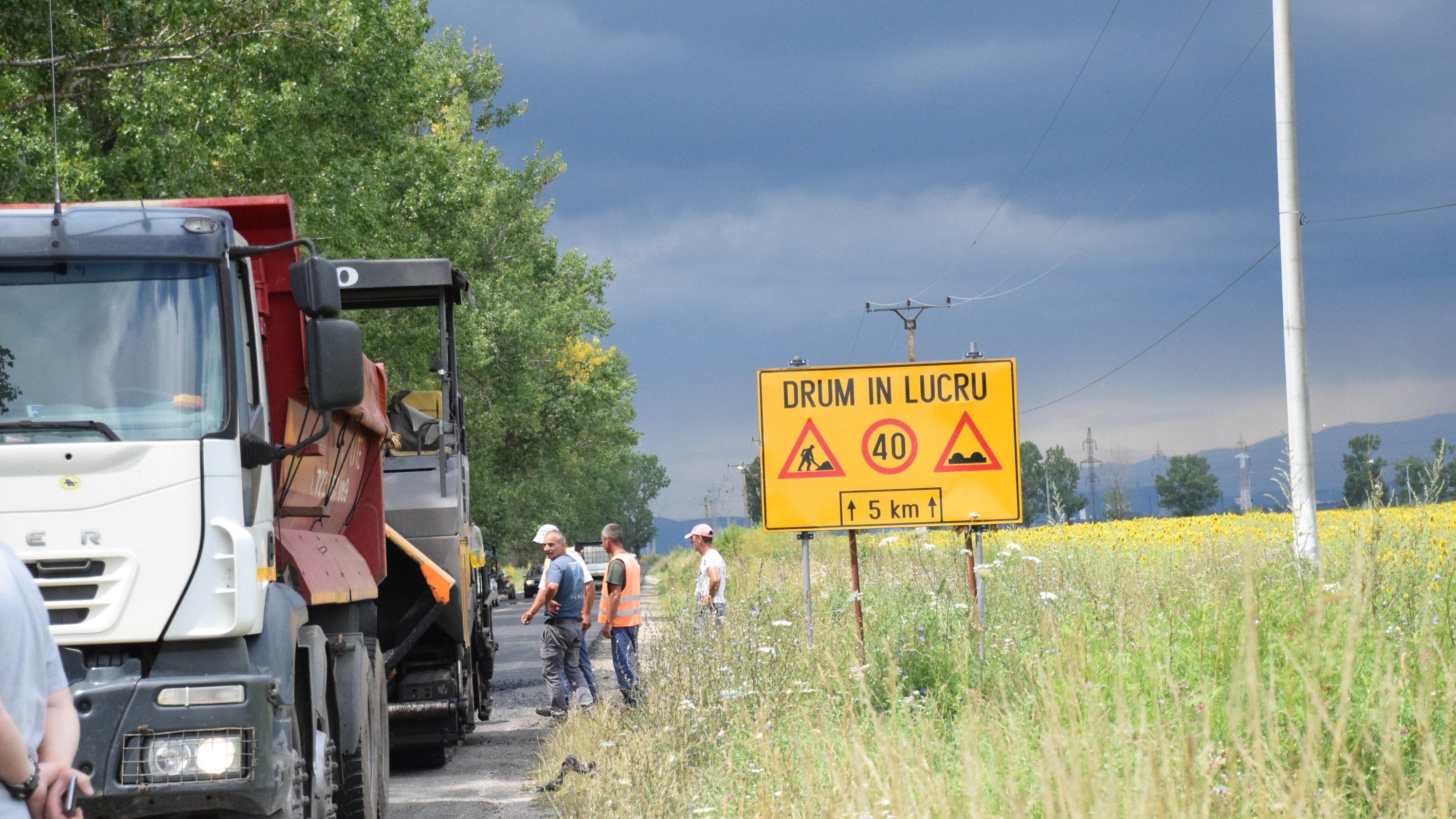 LDP Dâmboviţa lucrează pe DJ 721 Târgoviște (DN 72) – Colanu – Văcărești – Perșinari