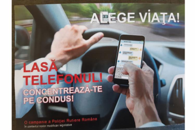 Sancţiuni aspre pentru şoferii care folosesc telefonul la volan