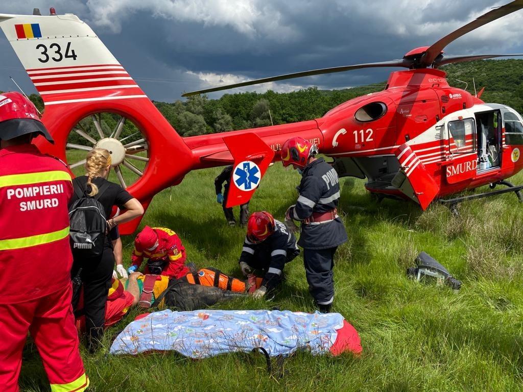 Gorgota: Un bărbat rănit în urma unui accident cu atv-ul a fost transportat cu elicopterul SMURD la un spital din capitală