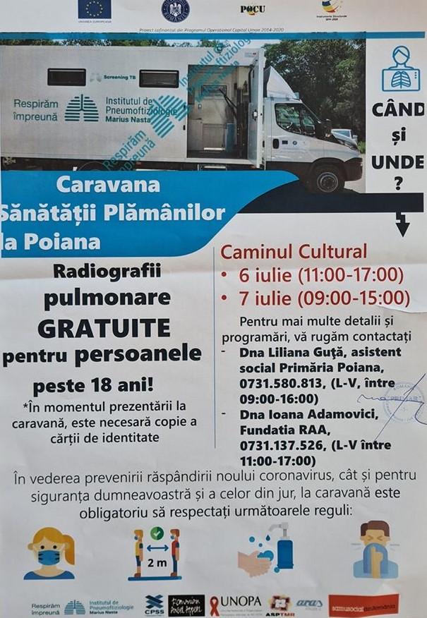 Caravana Sănătății Plămânilor la Poiana