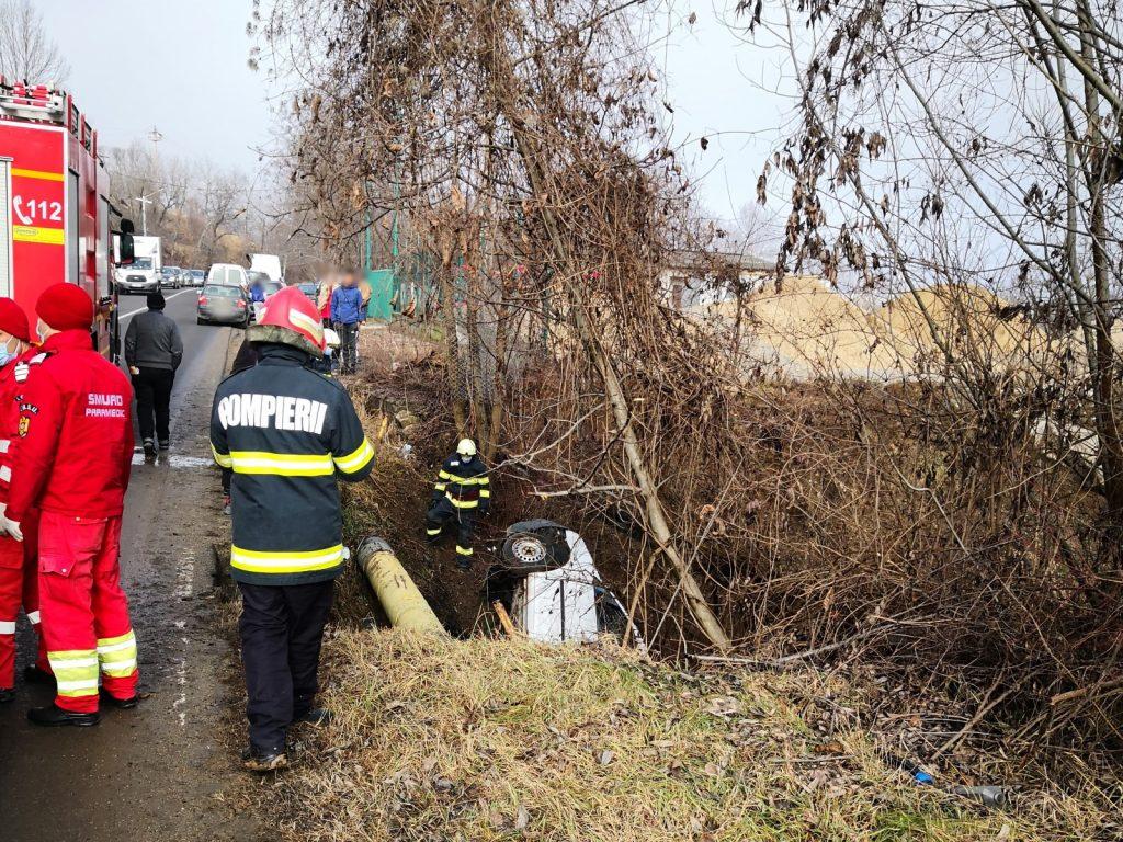 Un șofer a văzut moartea cu ochii pe DN 71 Târgoviște-Sinaia