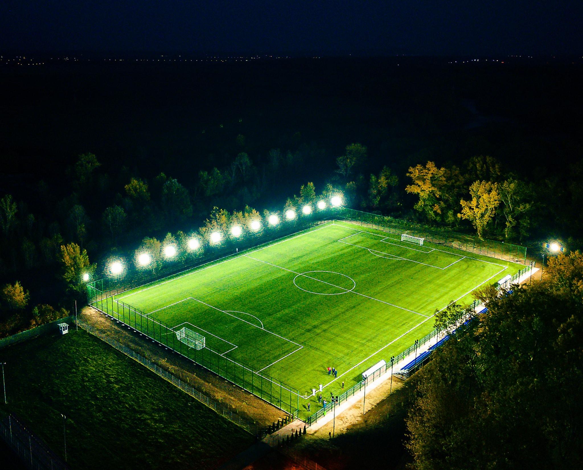 O bază sportivă,realizată în vecinătatea Complexului de Natație