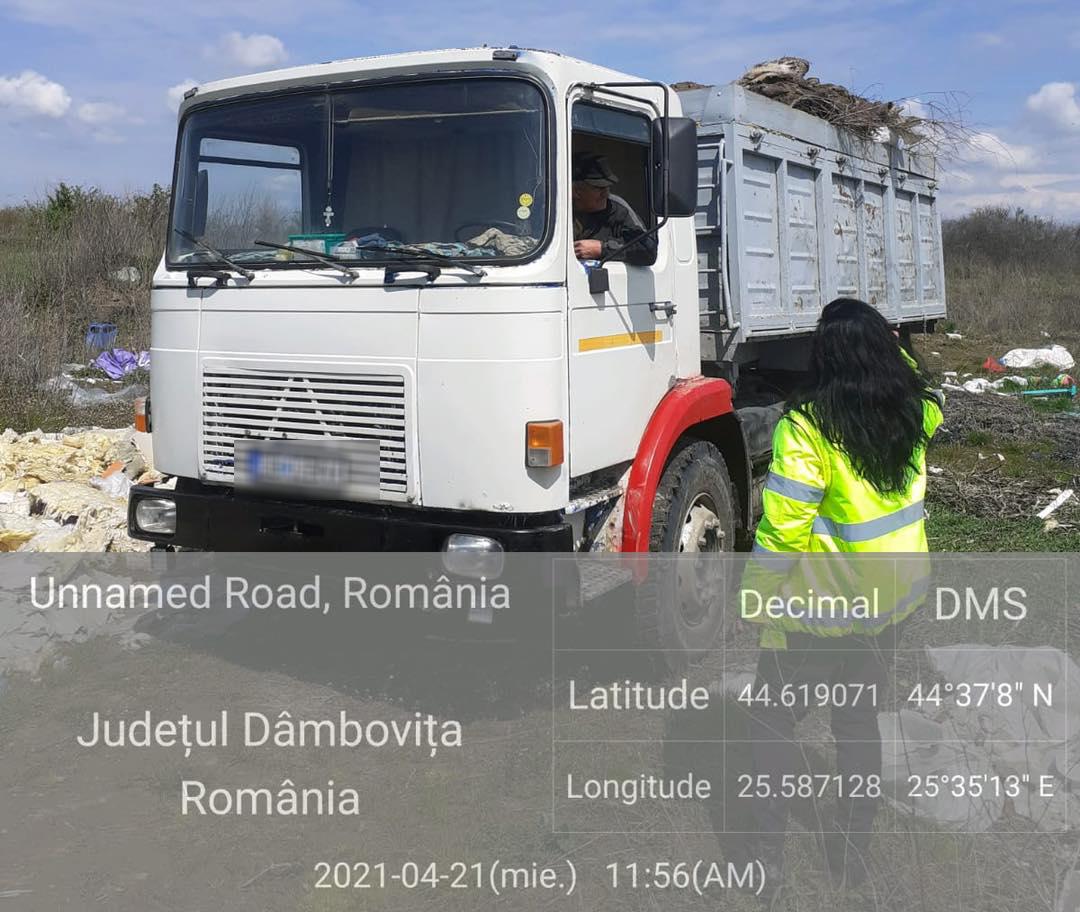 Amendă 30 000 lei și mașina confiscată pentru încălcarea legislației privind transportul deșeurilor