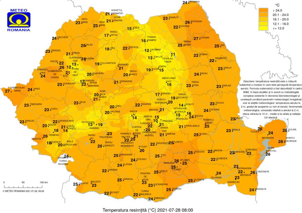 Caniculă și val de praf saharian peste România