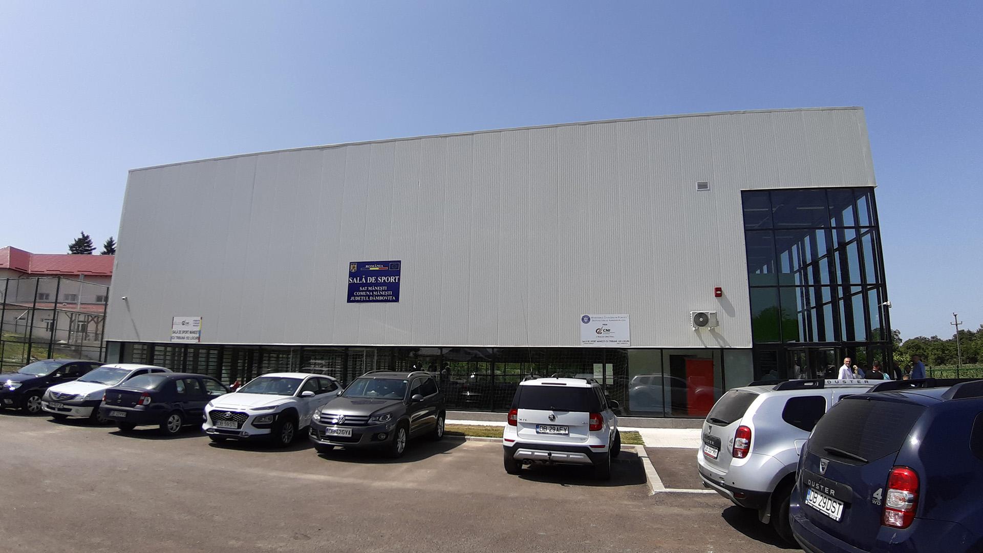 Comuna Mănești are o sală de sport ultramodernă