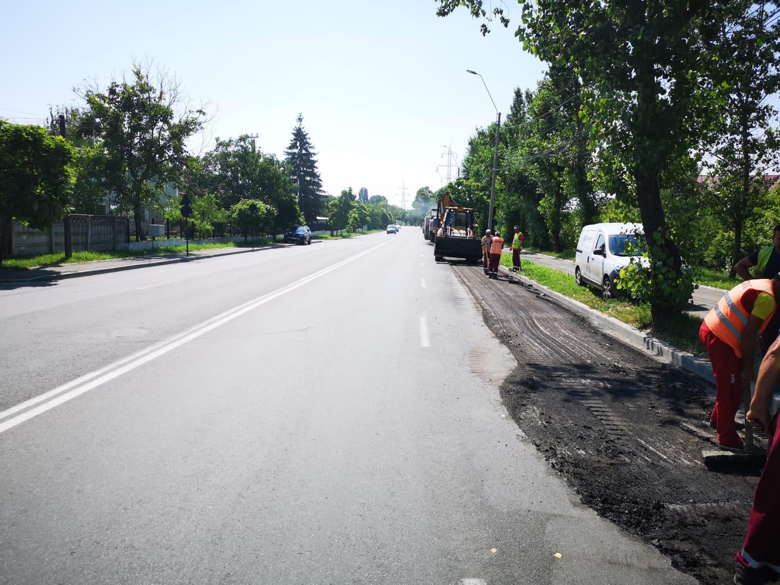 TÂRGOVIȘTE, CALEA IALOMIȚEI: Turnarea noului strat de asfalt se face exclusiv pe cheltuiala constructorului