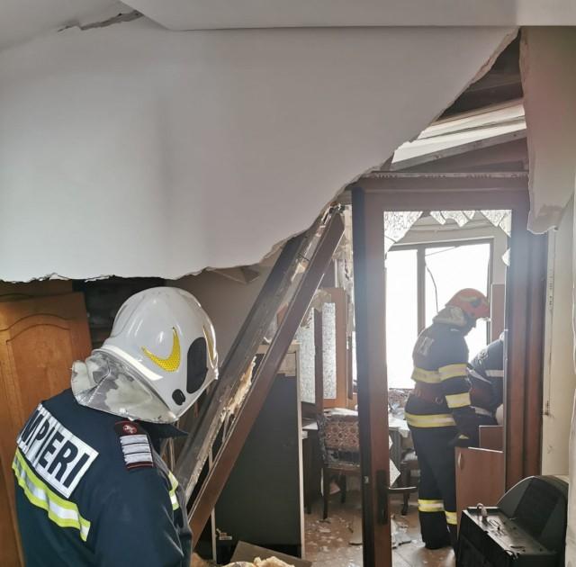 La Mătăsaru, explozie într-o gospodărie