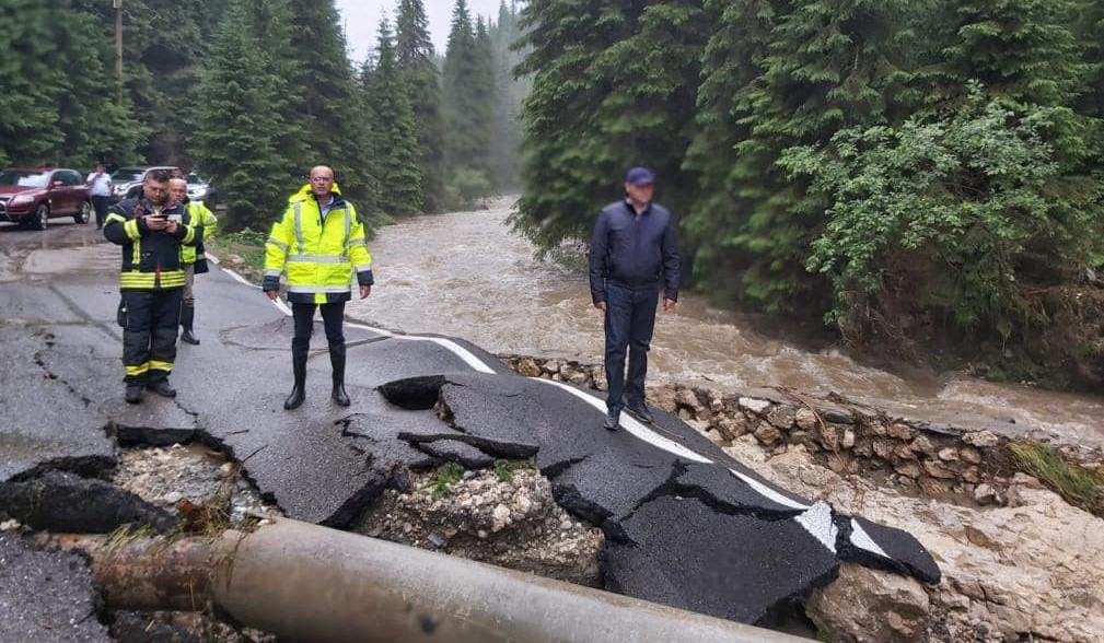 Președintele CJ, Corneliu Ștefan anunță măsurile urgente pentru zona montană, afectată de viitură