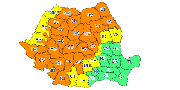 LOVESC FURTUNILE, și județul Dâmbovița este vizat de fenomene meteo periculoase